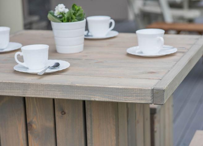 Garden Bar Table Set Natural