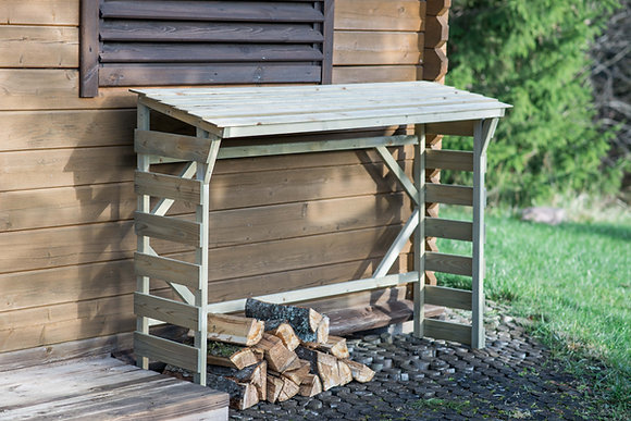 Low Roof Wood Store