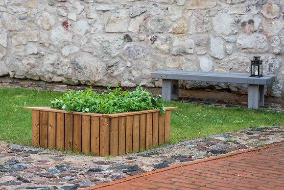 Trīsstūrveida dārzeņu kaste