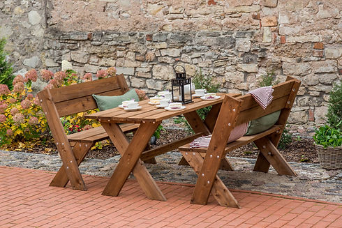 Light Garden Table Set Pressure Treated