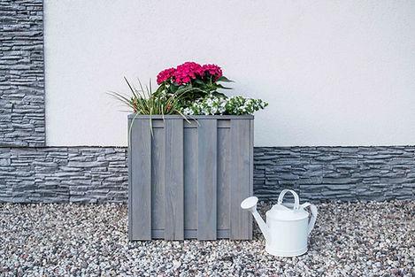 Profile Square Planter Dip Treated Grey