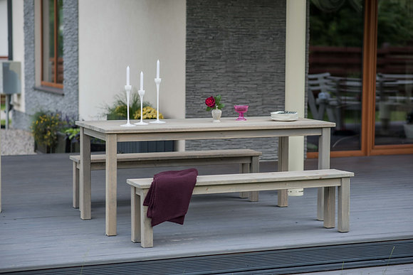 Cesis Table and Bench Set 1.8m