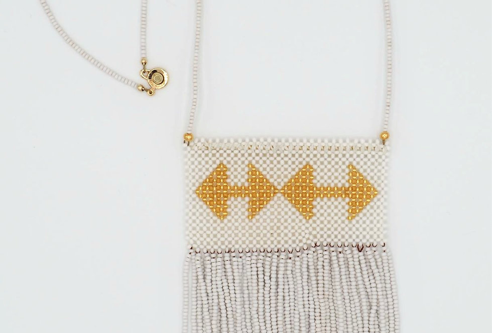 White Rain Arrows Necklace