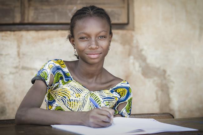 Beautiful African Teenage Schoolgirl Smi