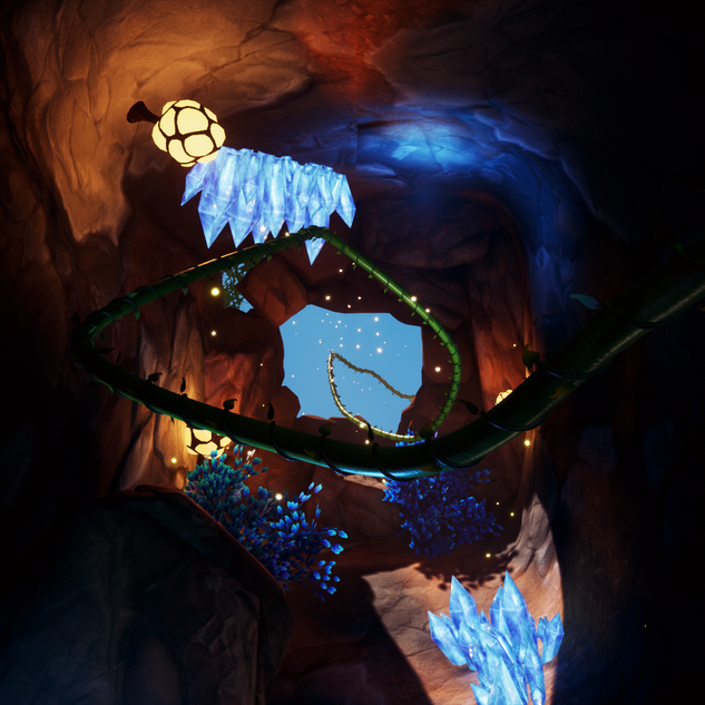 Prologue Cave, Introducing the Beanstalk