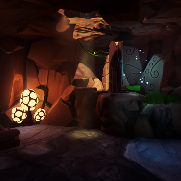 Second Cave, Grabbable Leaf Puzzle
