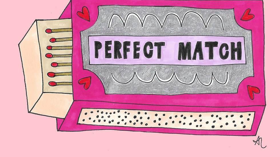 Perfect Match (Valentines Card)