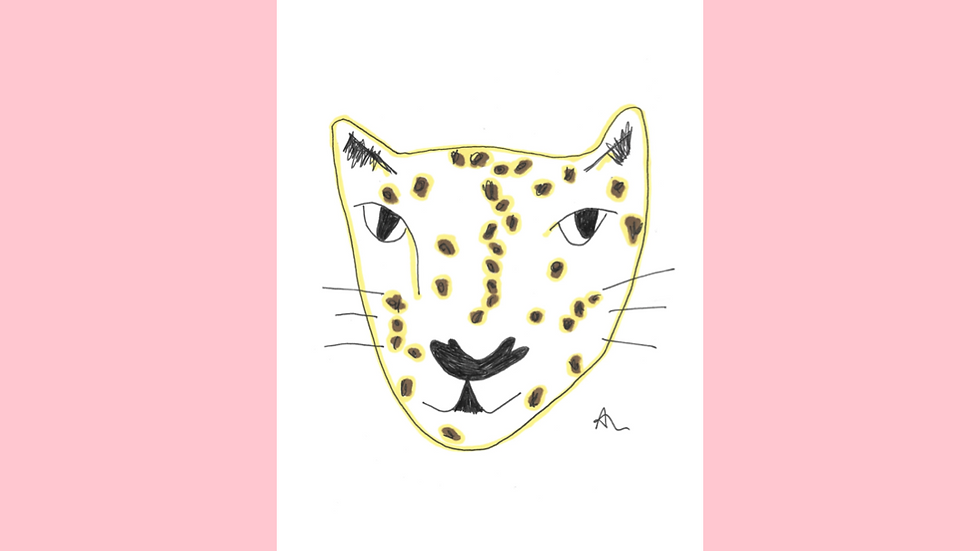 Spotty Face Greetings Card