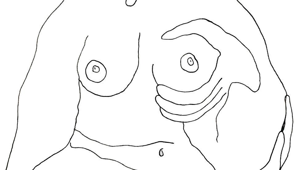 Cradle Line Drawing