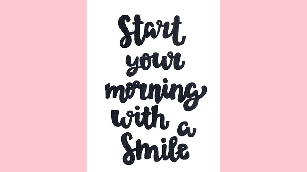 Start Your Morning With A Smile Greetings Card
