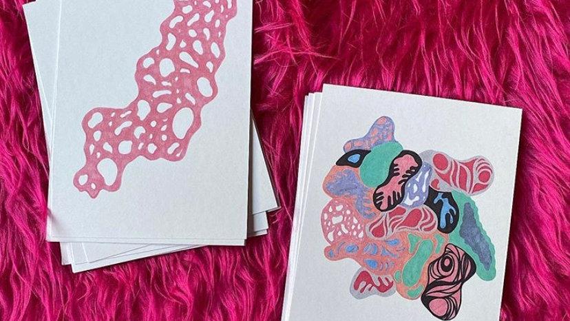 Blobs postcards