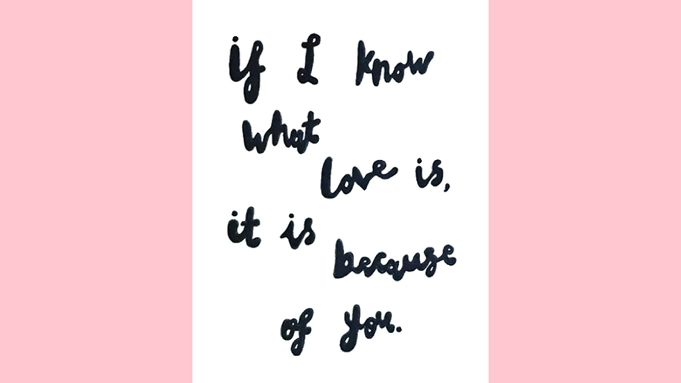 If I Know What Love Is, It Is Because Of You Greetings Card