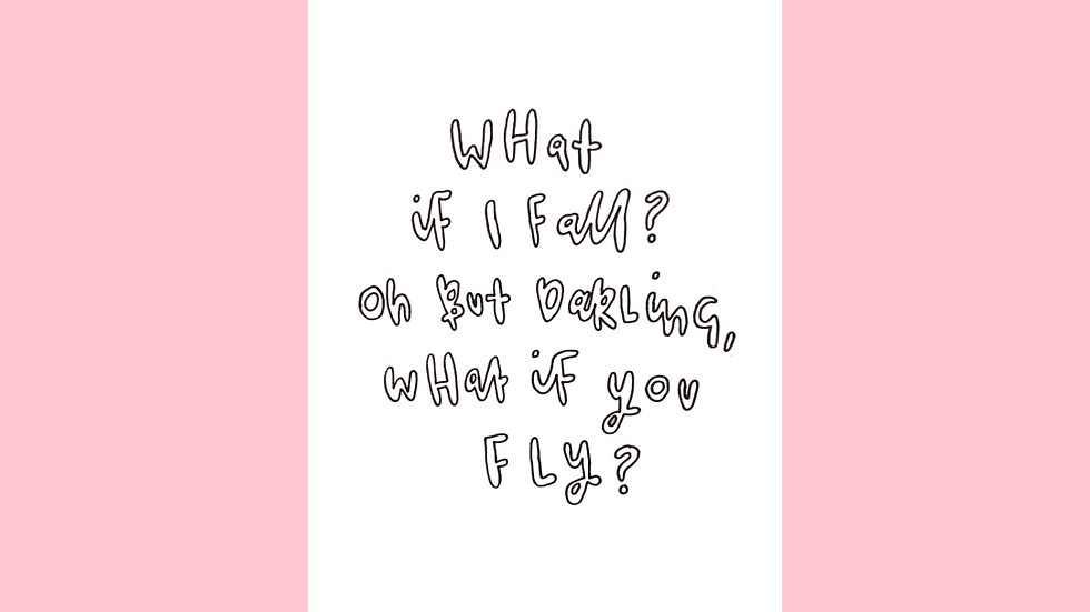 What If I Fall, What If You Fly? Greetings Card