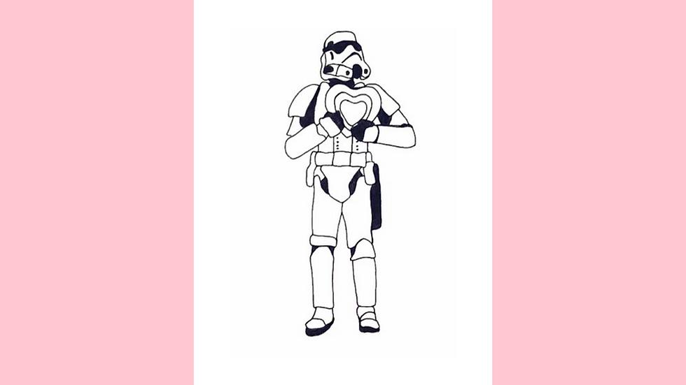 CHOOSE LOVE Stormtrooper Greetings Card