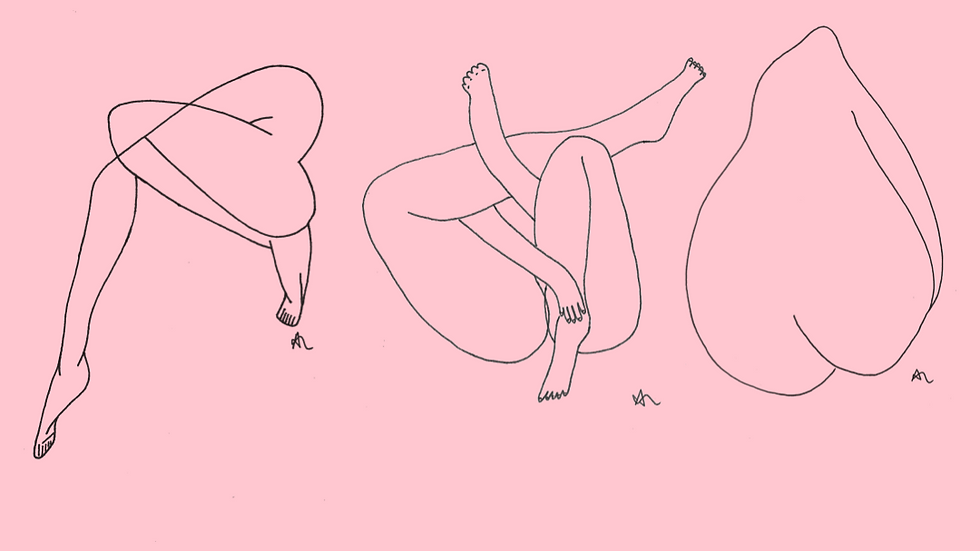 x3 A5 PINK Nude Link Drawings