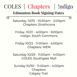 Edmonton Book Tour October 2016