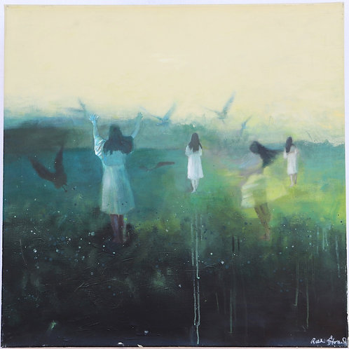 """Each and every day""80 x80 cm  Randi Kristin Strand"