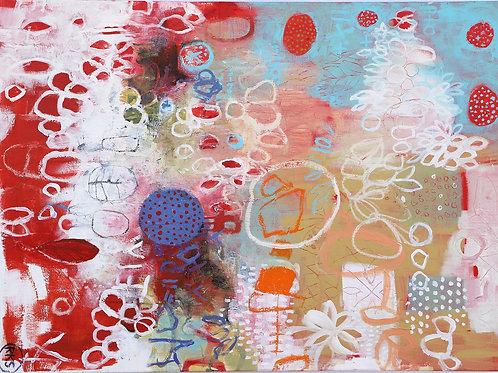 """My secret Garden""80x100 cm Randi Kristin Strand"