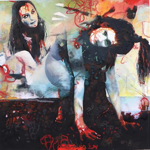 """Det vakreste""80 x 80 cm  Randi Kristin Strand"