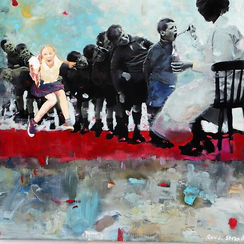"""My son, myson do the best you can"" 50 x 50 cm Randi Kristin Strand"