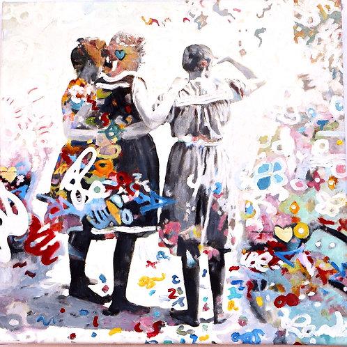 """The way you look att me""3.  50 x 50 cm Randi Kristin Strand"