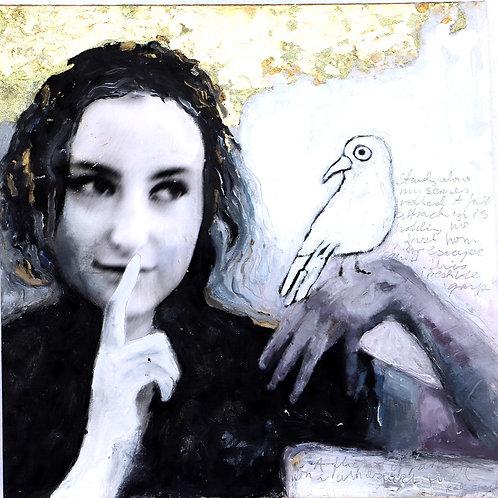 """Learning to Fly""  nr 4. 50 x 50 cm  Randi Kristin Strand"