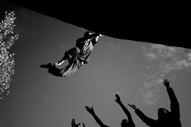 photographe escalade de bloc