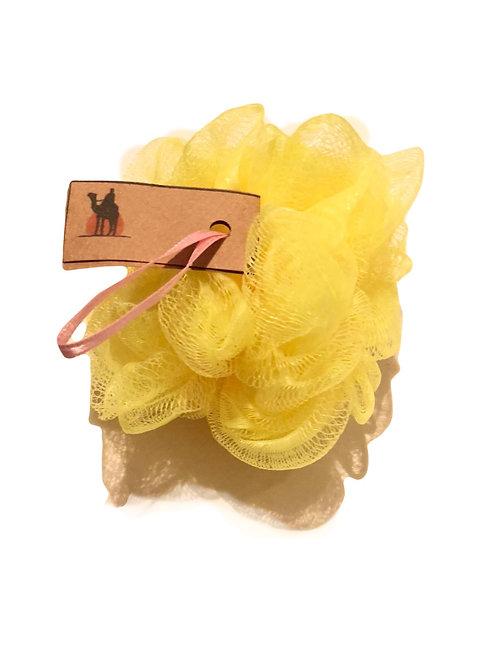 Yumuşak PonPon Banyo Lifi Sarı-Develi ®