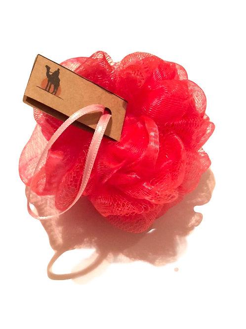 Yumuşak PonPon Banyo Lifi Kırmızı-Develi ®
