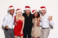Friends with Santa Hats