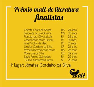 Resultado do Prêmio Malê de Literatura  - jovens escritor@es negr@s