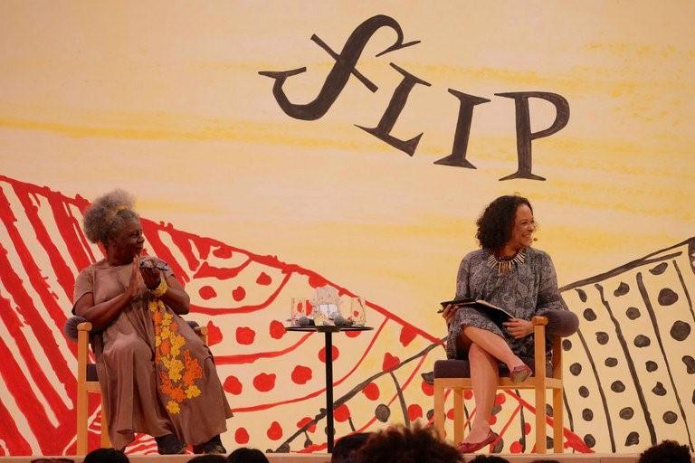 As escritoras Conceição Evaristo e Ana Maria Gonçalves debatem na FLIP 2017