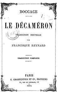 ILLUSTRATION COUV DECAMERON  TRAD FRANCI