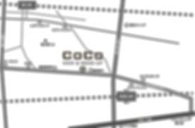 新富士,徒歩6分,ヘアメイクココ,MAP