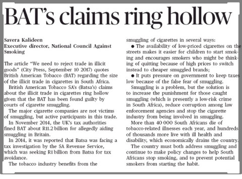 BAT's claims ring hollow