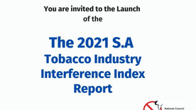 Launch of the 2021 South Africa Tobacco Industry Interference Report