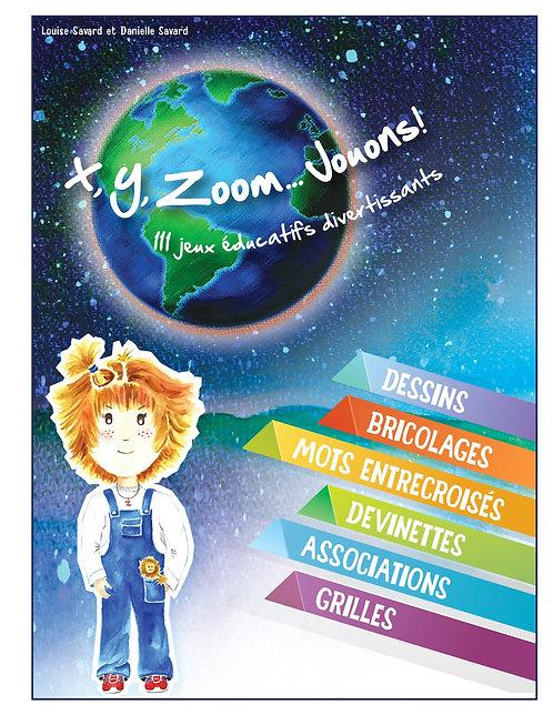 Ensemble Cahier de jeux X, Y, Zoom… Jouons et marionnette Zoom