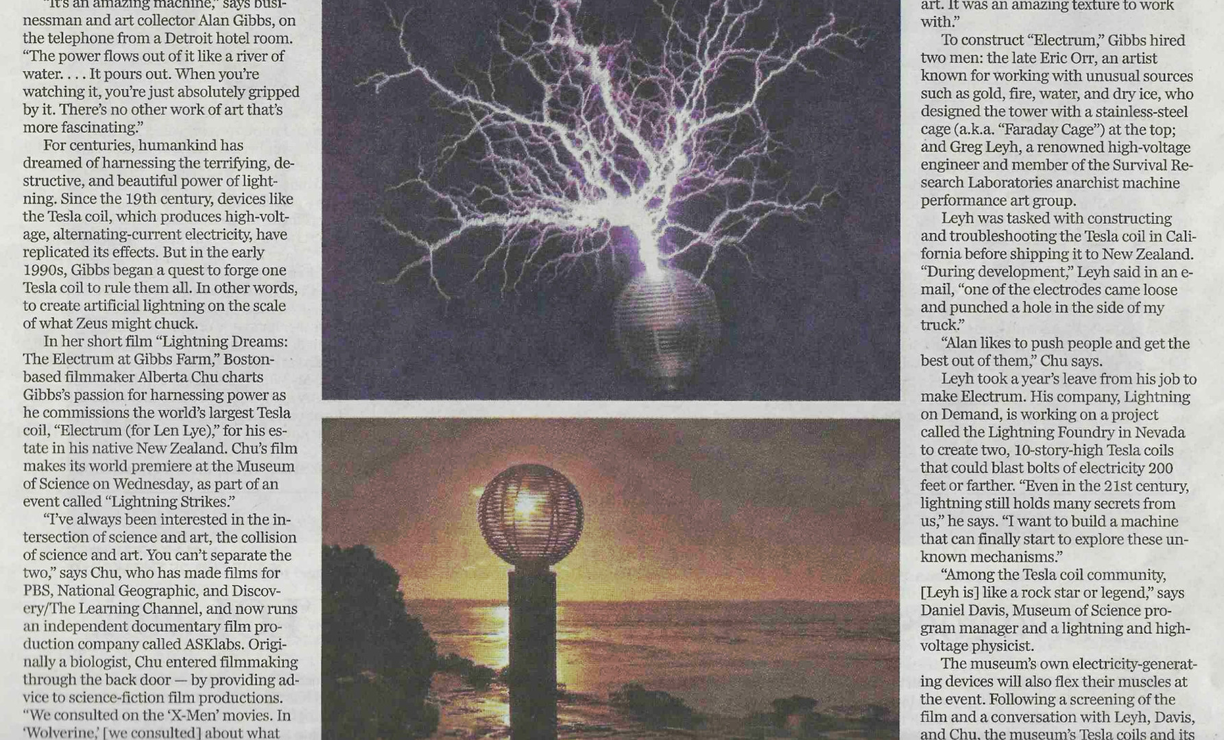 """""""Art and Science Collide in 'Lightning D"""