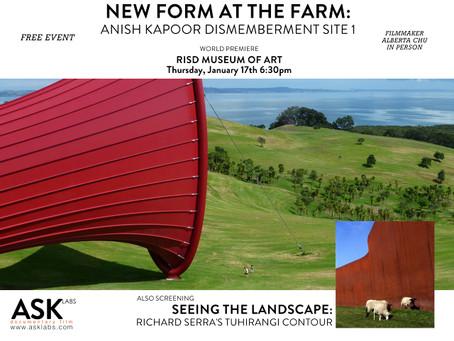 "RISD FILM PREMIERE ""NEW FORM AT THE FARM"" RECAP"