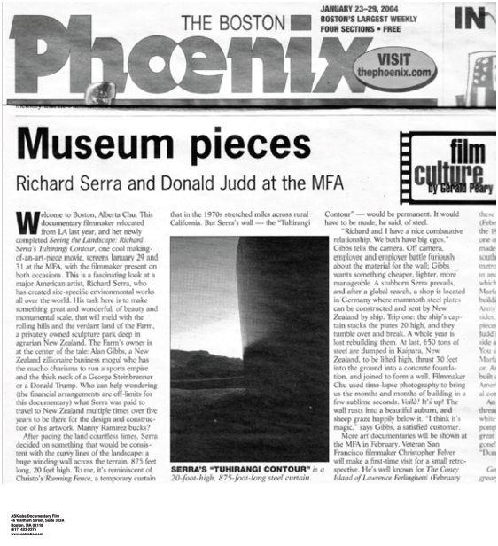 """""""Museum Pieces: Richard Serra and Donald"""