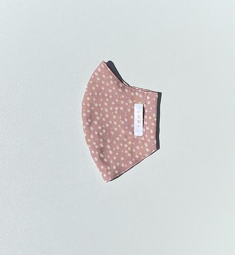Baby Pink Spot - Cotton Muslin 2 Layer