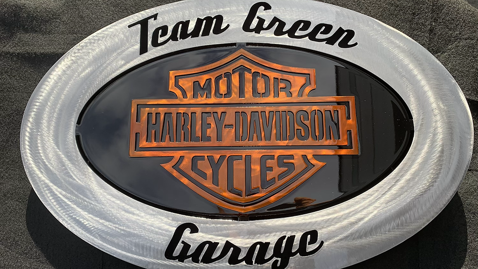 Customized Motor Cycle Oval Sign