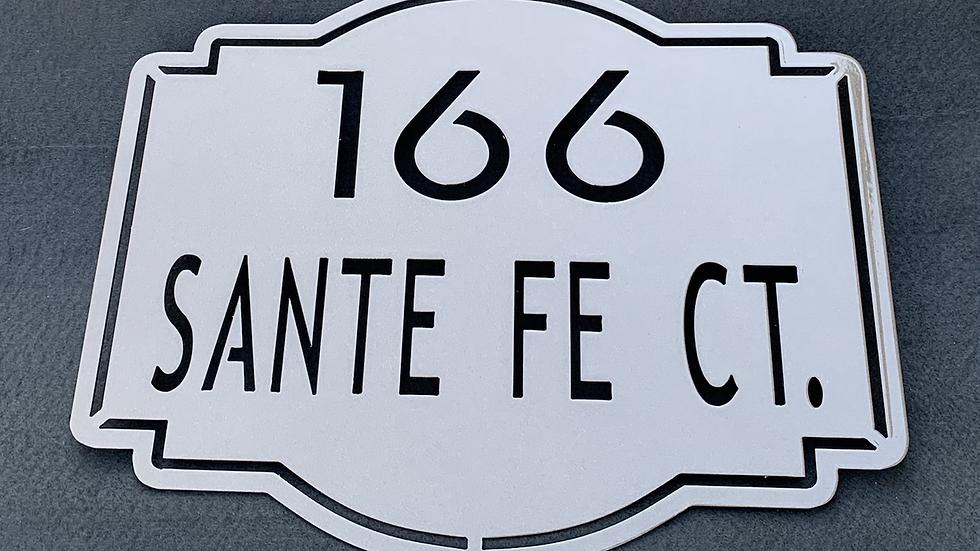 Vintage Address Sign