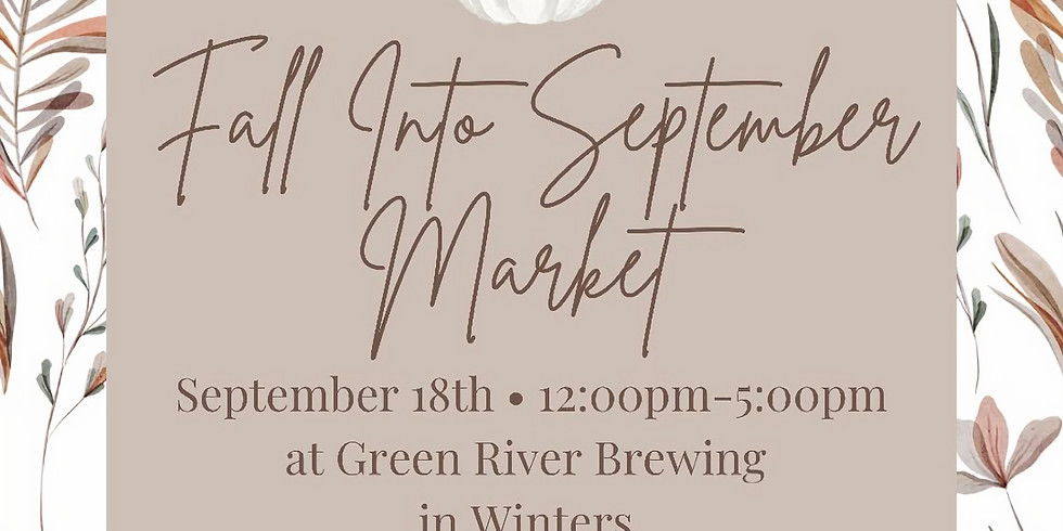Fall Into September Market at Green River Brewing & Taproom
