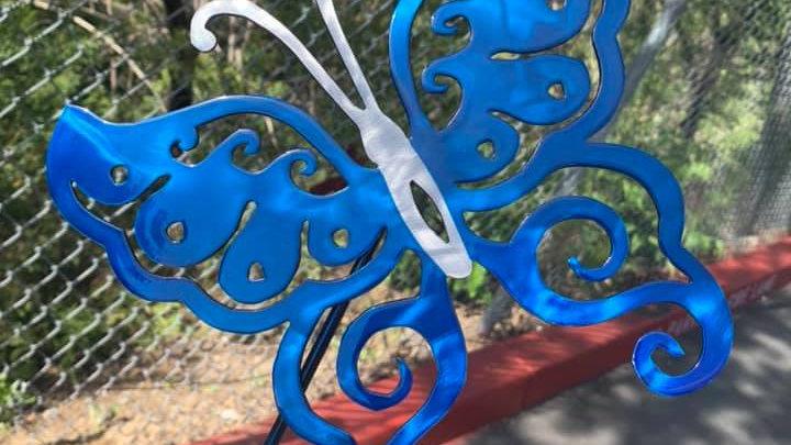 Butterfly Swirl Yard Art