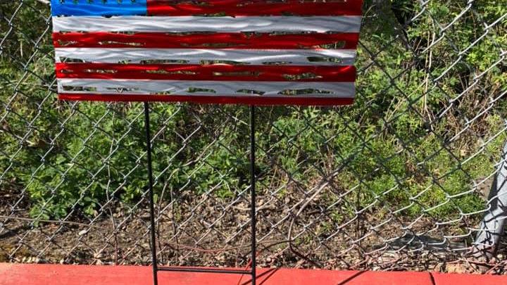US Flag Yard Stake