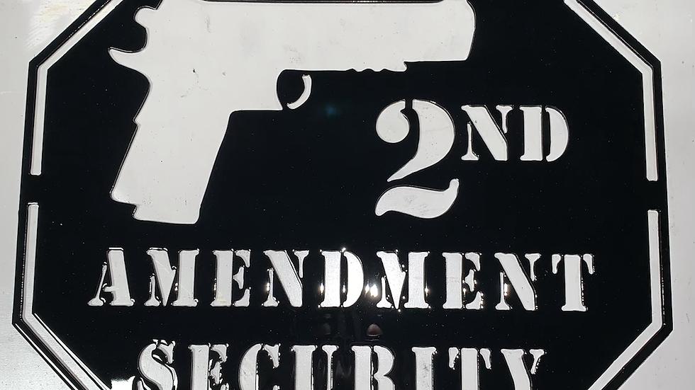 2nd Amendment Security Sign
