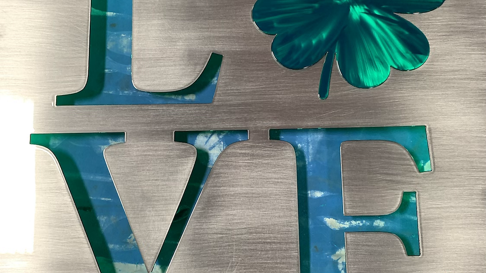 Love Clover Layered Sign