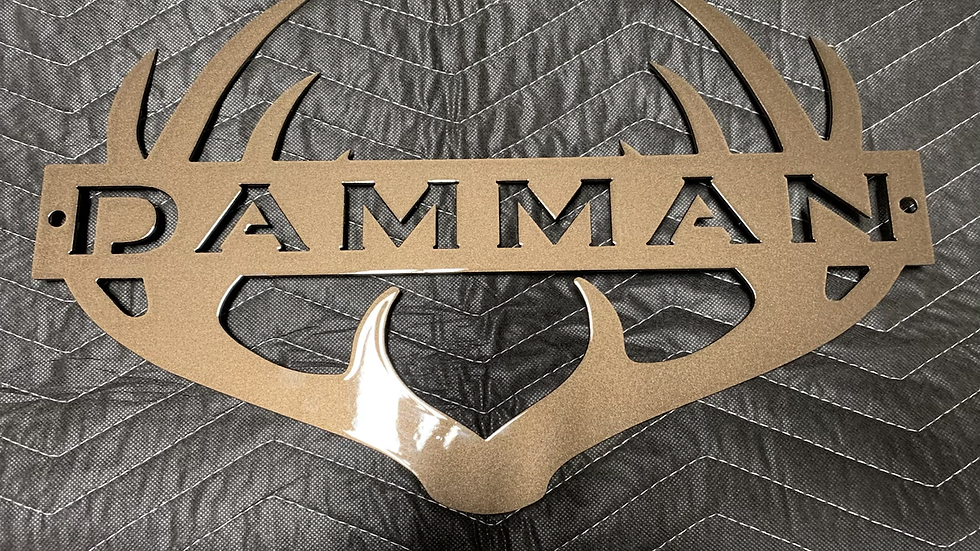 Antler Personalized Sign