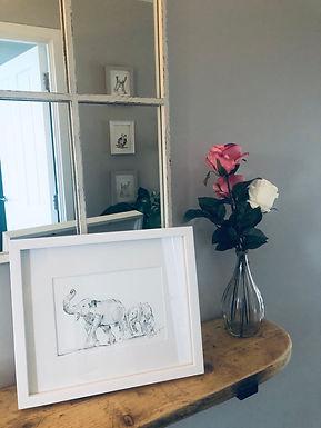 Elephants For Sale (original framed)